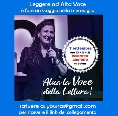 corso di Lettura ad Alta Voce Associazione culturale YOWRAS
